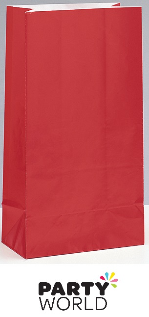 Paper Party Bags - Ruby Red (12)