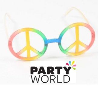 Peace Sign Hippie Party Glasses