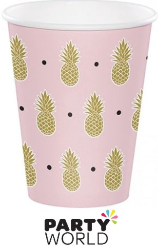 Pineapple Wedding Paper Party Cups (8)