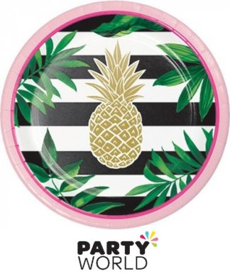 Pineapple Wedding Paper Plates Foil Stamped (8)