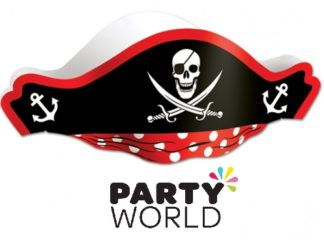 Pirate Hat Skull Design Red And Black