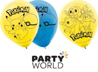 Pokemon Core Assorted Latex 30cm Balloons (6)