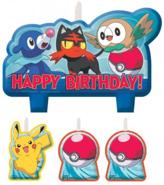 Pokemon Core Birthday Candle Set (4)