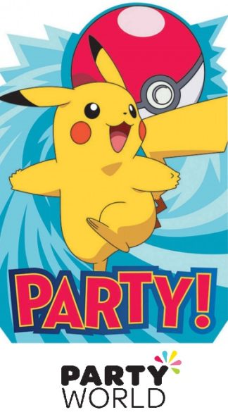 Pokemon Core Party Postcard Invitations (8)