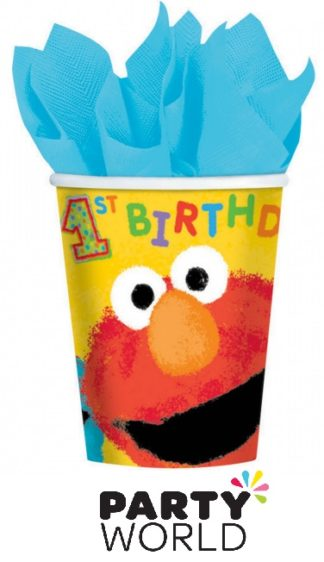Sesame St 1st Birthday 266ml Cups (16)