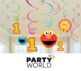 Sesame Street 1st Birthday Swirls Value Pack