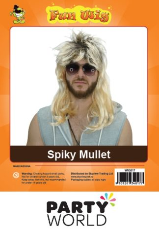 Spiky Mullet Blonde Wig