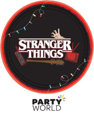 Stranger Things Round Paper Plates (8)