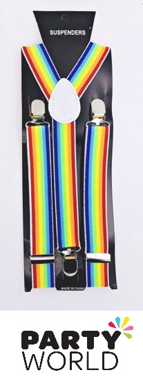 Suspenders - Rainbow Colour