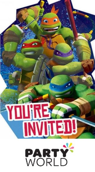 Teenage Mutant Ninja Turtles Postcard Invitations (8)