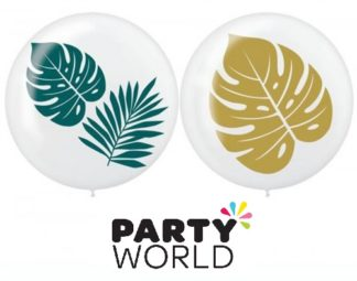 Tropical Palm Leaves 60cm Asstd Latex Balloons (2)