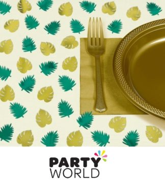 Tropical Palm Leaves Foil Table Scatters