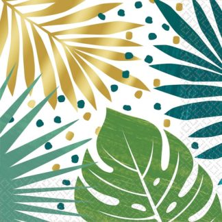 Tropical Palm Leaves Paper Luncheon Napkins (16)
