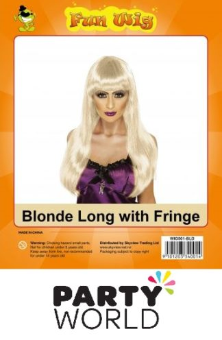 Wig - Long Blonde With Fringe