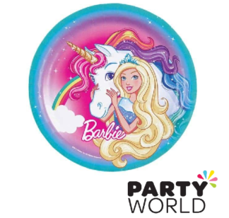 barbie dreamtopia paper plates 9in