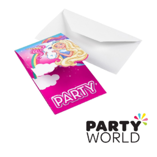 barbie dreamtopia party invitations