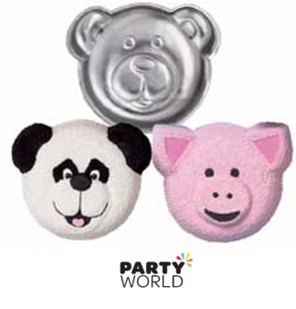 bear face cake pan