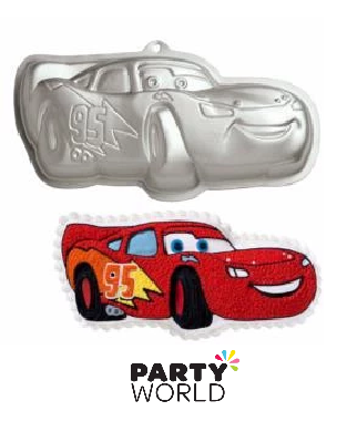 cars themed cake tin