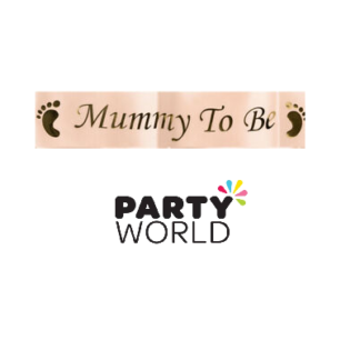 peach mummy to be sash