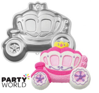 princess carriage cake tin