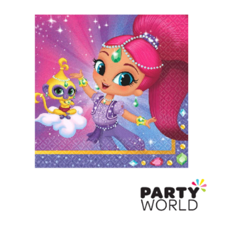 shimmer and shine beverage napkins