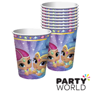 shimmer and shine paper cups