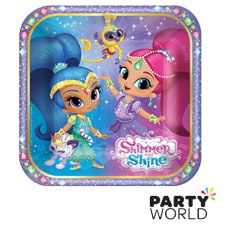 shimmer and shine paper plate