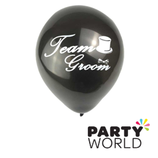 team groom balloons