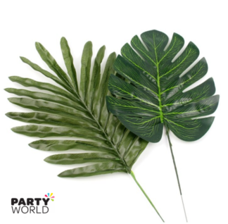tropical palm leaves decorations
