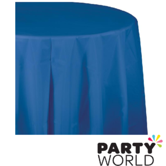 true blue tablecover round