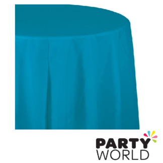 turquoise tablecover round