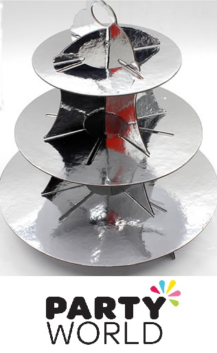 Cupcake / Treat Stand - 3 Tier - Silver
