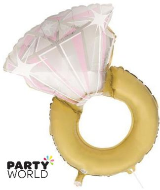 Diamond Ring Shape Jumbo Foil Balloon