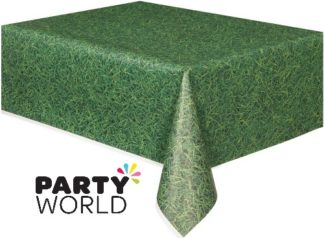 Green Grass Pattern Plastic Tablecover