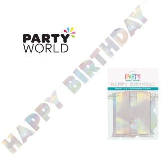 Iridescent Foil Happy Birthday Banner 2.2m