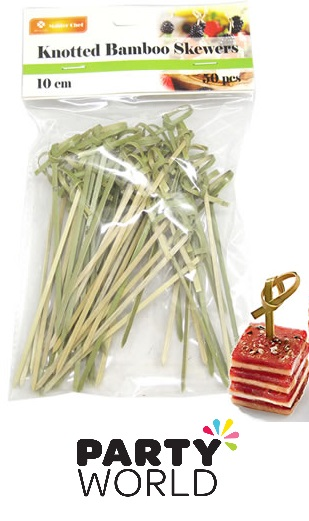 Knotted Bamboo Skewers (50)