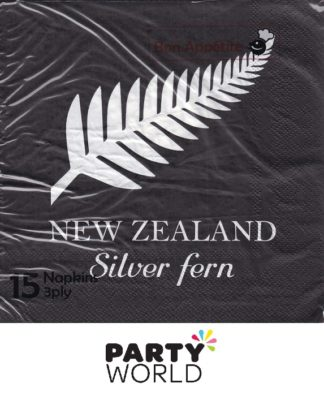 NZ Silver Fern Luncheon Napkins (15)