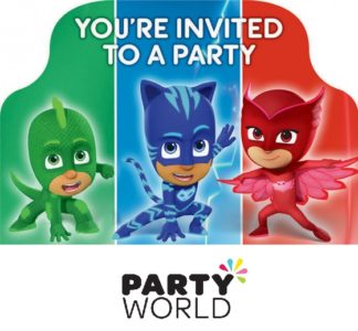 PJ Masks Postcard Invitations (8)