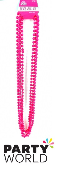 Pink Bead Necklaces (4pcs)