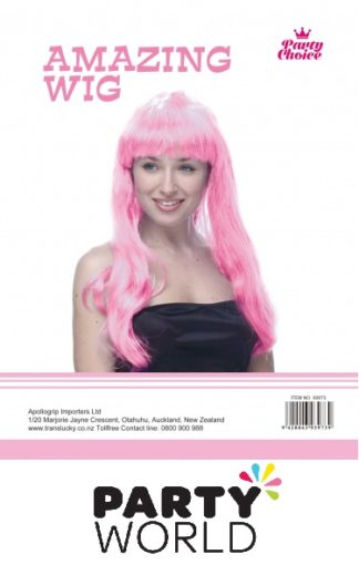 Pink Long Straight Ladies Wig