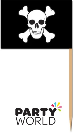 Pirate Party Flag Picks (50)