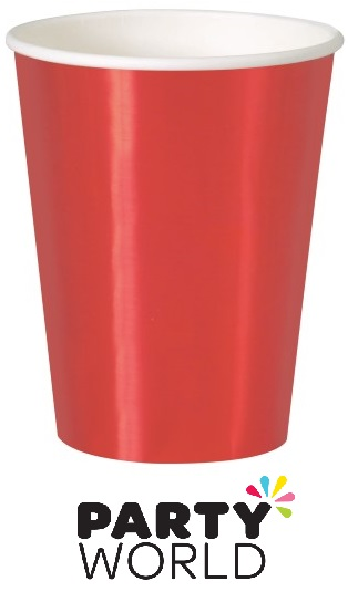 Red Foil 12oz Paper Cups (8)