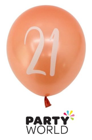 Rose Gold 30cm Latex 21 Balloons (10)