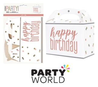 Rose Gold Happy Birthday Party Boxes (6)