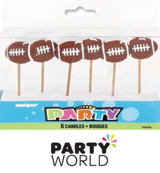 Rugby Ball Pick Cake Candles (6)