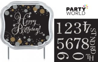 Sparkling Celebration Add Any Age Happy Birthday Cake Topper