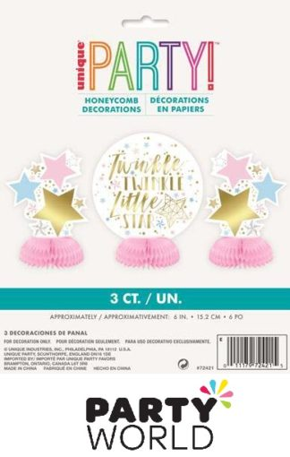 Twinkle Star Mini Honeycomb Decorations (3)