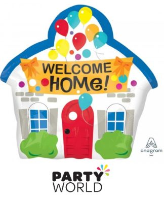 Welcome Home House Shape Foil Balloon