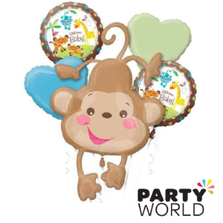 animals of the rainforest welcome baby foil balloon bouquet