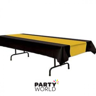 black & gold tablecover